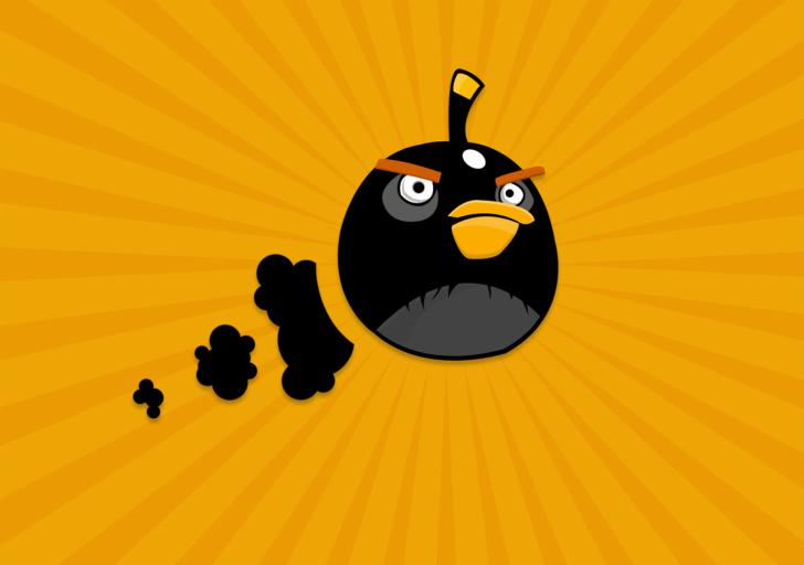 Black Angry Birds papel de parede para celular