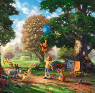 Thomas Kinkade, Winnie-The-Pooh - Obrázkek zdarma pro iPad mini 2