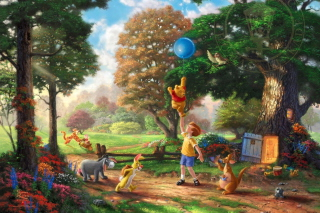 Thomas Kinkade, Winnie-The-Pooh - Obrázkek zdarma pro Widescreen Desktop PC 1920x1080 Full HD
