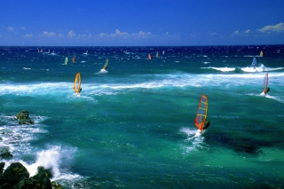 Windsurfers Background for Android, iPhone and iPad