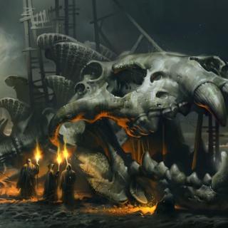 Skeleton Monk - Obrázkek zdarma pro 208x208