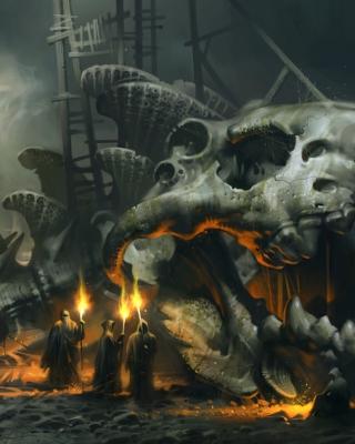 Skeleton Monk - Obrázkek zdarma pro Nokia 206 Asha