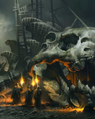 Skeleton Monk - Obrázkek zdarma pro Nokia 5800 XpressMusic