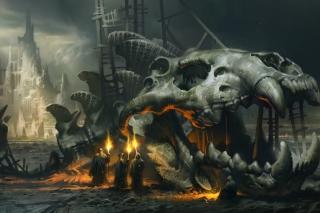 Skeleton Monk - Obrázkek zdarma pro LG Optimus M