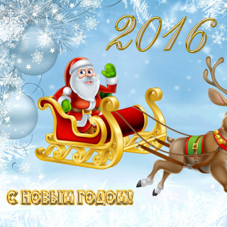 2016 Happy New Year - Obrázkek zdarma pro iPad Air