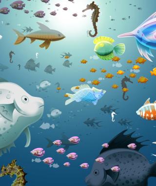Virtual Fish Tank Aquarium - Obrázkek zdarma pro iPhone 6 Plus