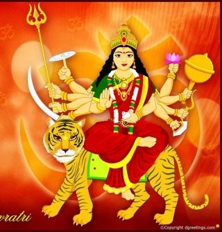 Maa Durga - Puja Avratri - Obrázkek zdarma pro 2048x2048
