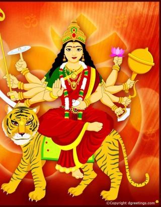 Maa Durga - Puja Avratri - Obrázkek zdarma pro Nokia Asha 502