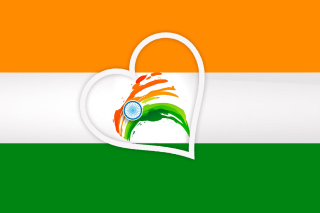 Happy Independence Day of India Flag - Obrázkek zdarma pro 960x854