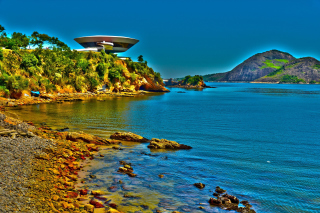 Museum of Contemporary Art in Rio Background for Android, iPhone and iPad