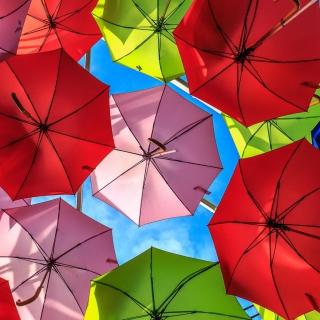 Colorful Umbrellas - Obrázkek zdarma pro iPad 3