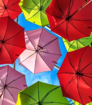 Colorful Umbrellas - Obrázkek zdarma pro 320x480