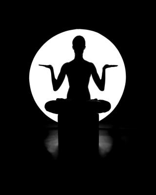 Moonlight Yoga - Obrázkek zdarma pro Nokia Asha 308