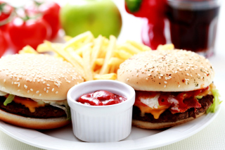 Burgers with Barbecue sauce - Obrázkek zdarma pro Widescreen Desktop PC 1920x1080 Full HD