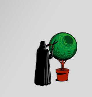 Darth Vader Funny Illustration - Obrázkek zdarma pro iPad mini