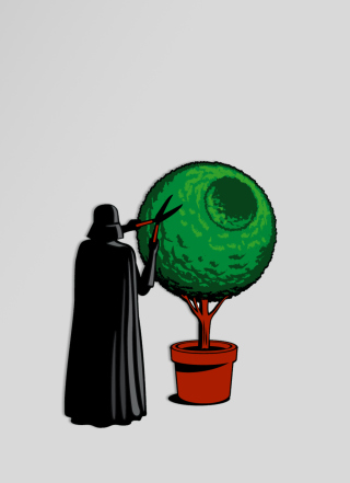 Darth Vader Funny Illustration - Obrázkek zdarma pro Nokia Asha 303