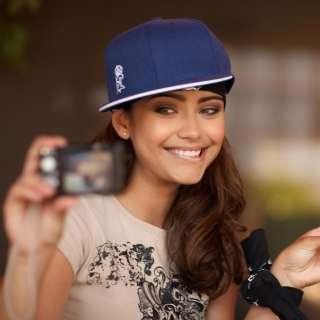 Selfie Hip-Hop Girl - Obrázkek zdarma pro iPad Air