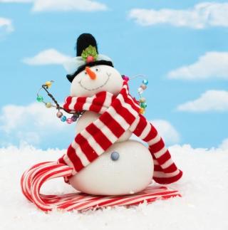 Cool Snowman - Obrázkek zdarma pro 128x128