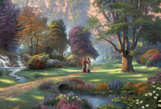Jesus Painting By Thomas Kinkade Wallpaper for Android, iPhone and iPad
