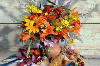 Free Autumn Bouquet Picture for Android, iPhone and iPad