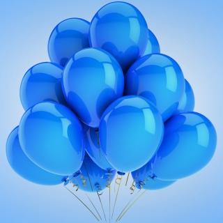 Blue Balloons - Obrázkek zdarma pro iPad Air