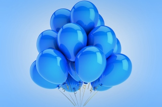 Blue Balloons Wallpaper for Android, iPhone and iPad