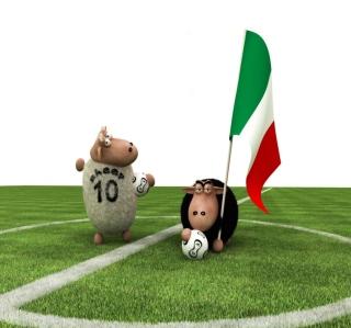 Sheep Playing Football - Obrázkek zdarma pro iPad mini