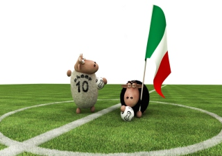Sheep Playing Football - Obrázkek zdarma
