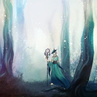 Fairy in Enchanted forest - Obrázkek zdarma pro 2048x2048