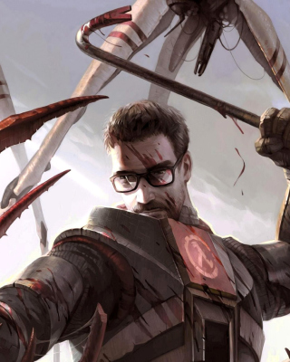 Gordon Freeman in Half Life Game - Obrázkek zdarma pro 132x176