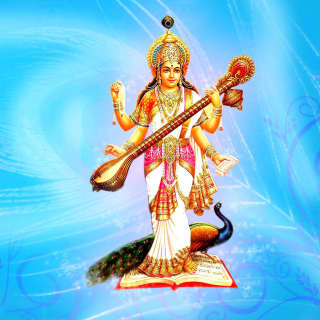 Saraswati Hindu Goddess - Obrázkek zdarma pro iPad