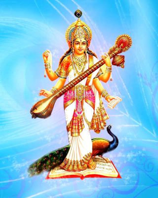 Free Saraswati Hindu Goddess Picture for Nokia N8