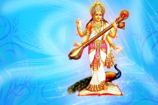 Saraswati Hindu Goddess - Obrázkek zdarma pro Nokia Asha 302