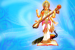 Saraswati Hindu Goddess - Obrázkek zdarma pro Nokia X2-01