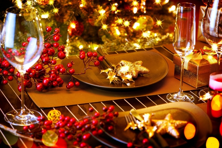 Christmas Table Decorations wallpaper
