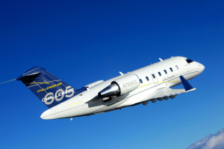 Bombardier Challenger 605, Aviation Wallpaper for Android, iPhone and iPad