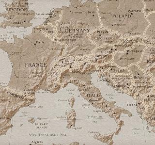 Map Of Europe - Obrázkek zdarma pro 1024x1024
