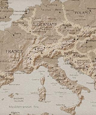 Map Of Europe - Obrázkek zdarma pro Nokia Asha 308