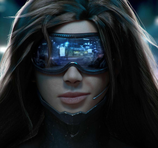 Cyberpunk Girl - Obrázkek zdarma pro iPad 2