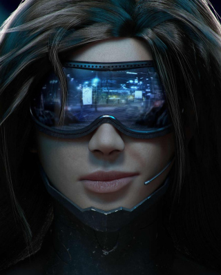 Cyberpunk Girl Wallpaper for 480x854