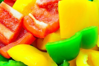 Red Green And Yellow Paprika Picture for Android, iPhone and iPad
