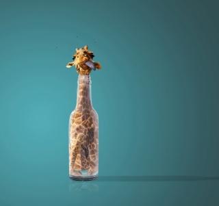 Giraffe In Bottle - Obrázkek zdarma pro 208x208