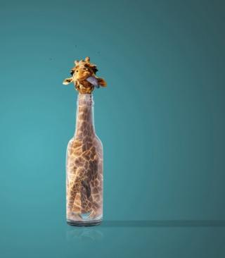 Giraffe In Bottle - Obrázkek zdarma pro 128x160
