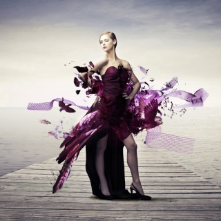 Creative Purple Dress - Obrázkek zdarma pro iPad 2