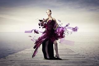 Creative Purple Dress - Obrázkek zdarma pro Motorola DROID 2