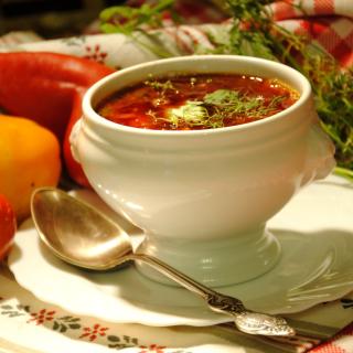 Ukrainian Red Borscht Soup - Obrázkek zdarma pro 128x128