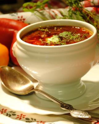 Ukrainian Red Borscht Soup - Obrázkek zdarma pro 480x854
