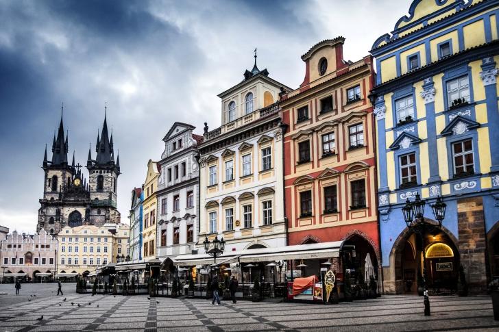 Prague Old Town Square wallpaper