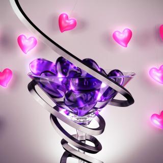 Glass Hearts - Obrázkek zdarma pro iPad