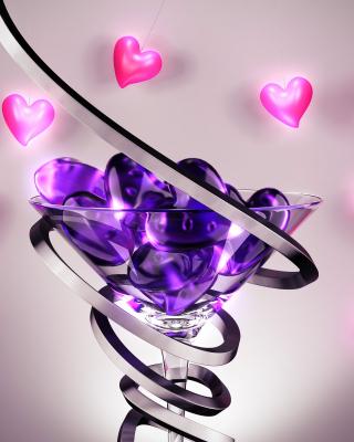 Glass Hearts - Obrázkek zdarma pro Nokia Asha 203